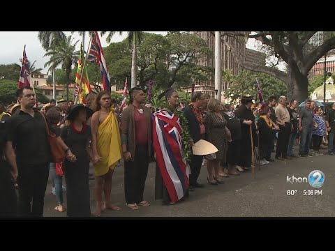 Ceremony marks 125 years since overthrow of Kingdom of Hawaii
