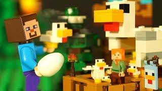 🐤 КУРЯТНИК для ЛЕГО НУБика Майнкрафт Мультики LEGO Minecraft - Видео Мультфильмы для Детей