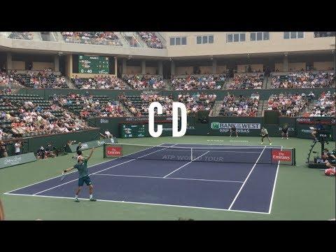 Milos Raonic vs Joao Sousa - Court Level Play [HD]