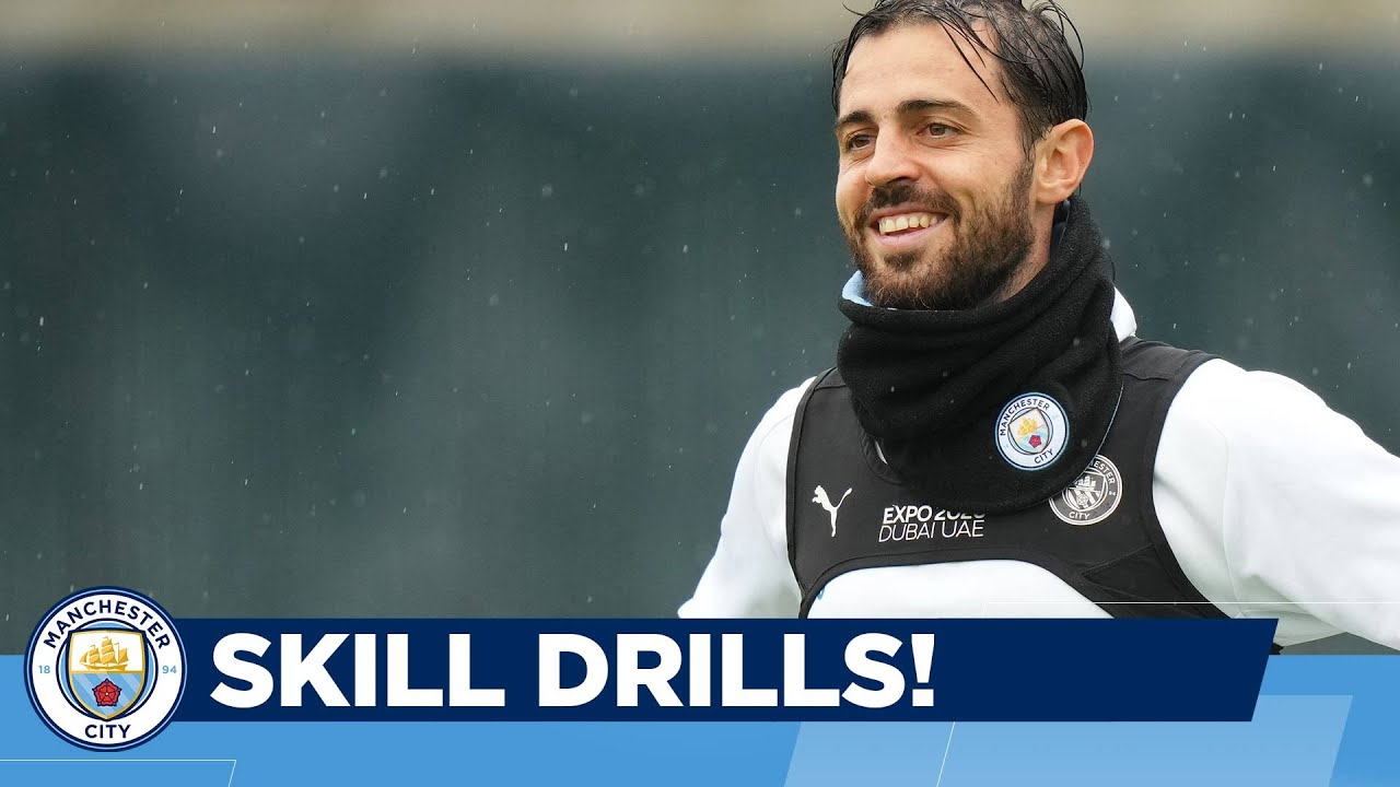 KEEP THE BALL IN THE AIR!   Man City Training   Skills before Champions League v Club Brugge