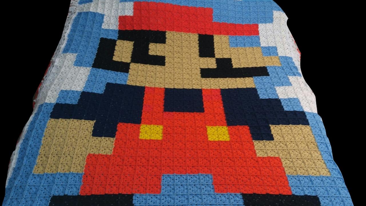 Colcha de Mario Bros a crochet - YouTube