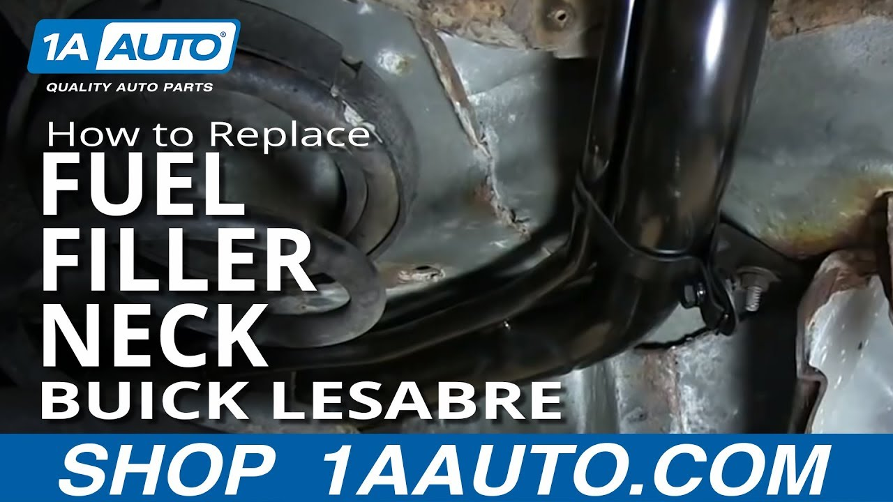 How to install replace rusted fuel tank filler neck 1992 99 buick lesabre youtube