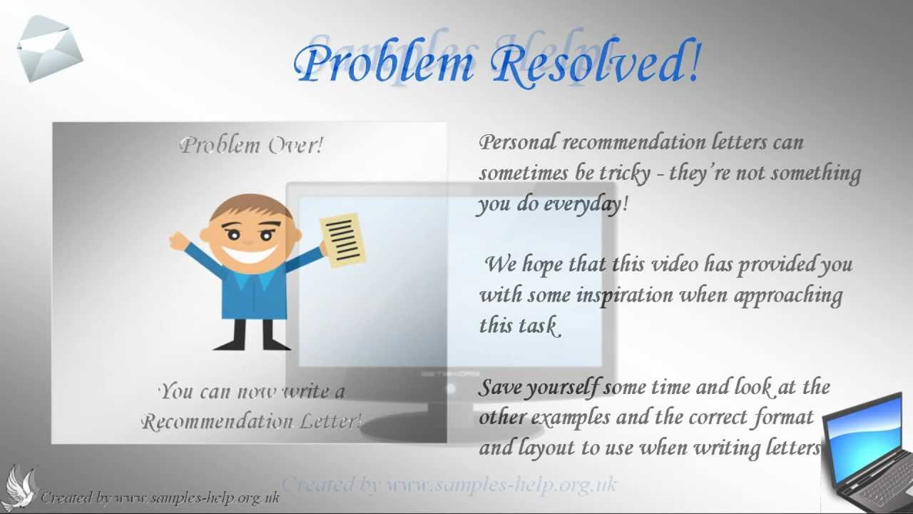 how to write a recommendation letter youtube