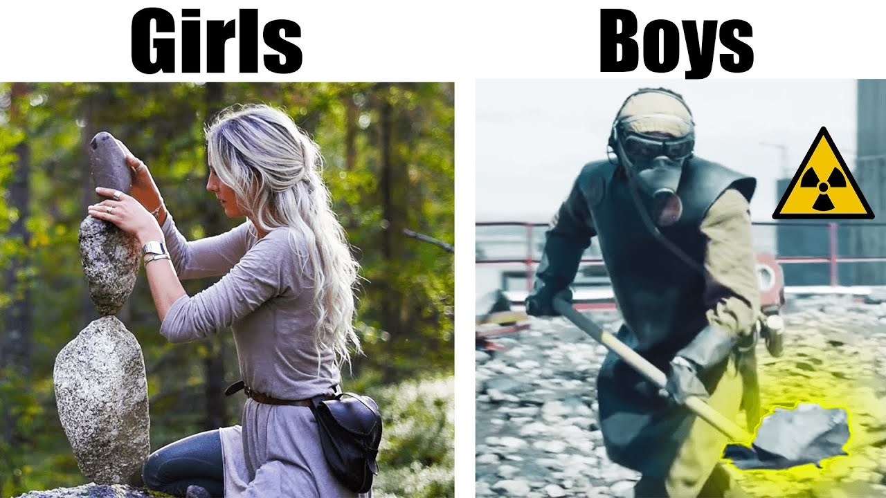 BOYS vs GIRLS PLAYING WITH STONES EDITION