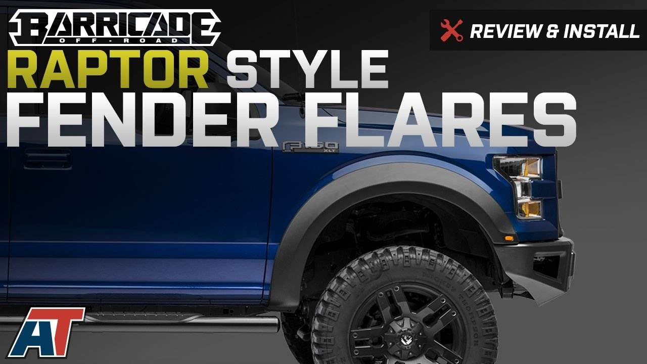 F150 Fender Flares >> 2015-2017 F150 Barricade Raptor Style Fender Flares Review & Install - YouTube