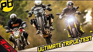 Triple Trouble Road Test | Street Triple RS - MT09 SP - Brutale 800 RR