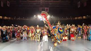 Head Dancer Brando Jack - White Cone, AZ | Gathering Of Nations Powwow 2018 Clip 2