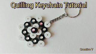 How to Make Quilling KeyChain / Tutorial/ Design 5