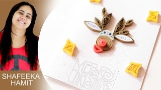 How to make christmas cards - paper quilling