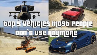 GTA Online Top 5 Vehicles Most People Don't Use Anymore