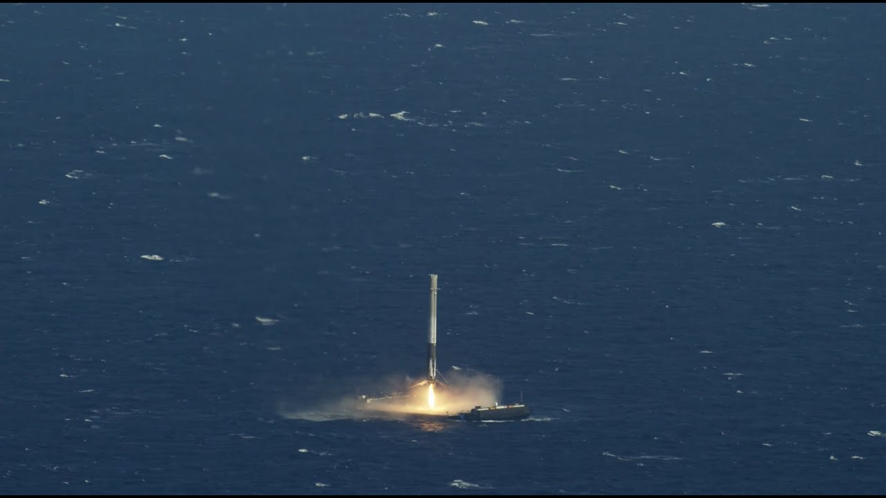 CRS-8 | First Stage Landing on Droneship - YouTube