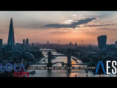 London Bridge at dusk and night 5.2K HDR