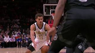 Trae Young Literally Spins Defender Around With Ridiculous Handles vs. Detroit Pistons