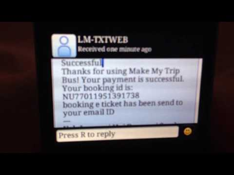 @mbus | MakeMyTrip Bus Booking on SMS Using IMPS | Demo -1