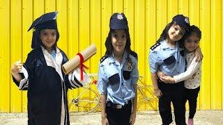 MASAL POLİS OLDU ÖYKÜ'YÜ KURTARDI!!! -  Baby Play Funny Video for Children - Meslekleri Öğreniyorum