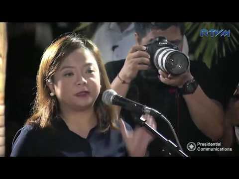 Presentation of 2016 Rio Olympics Silver Medalist Hidilyn Diaz to the Press 8/11/2016