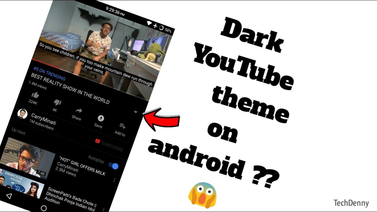 youtube app turn off dark mode
