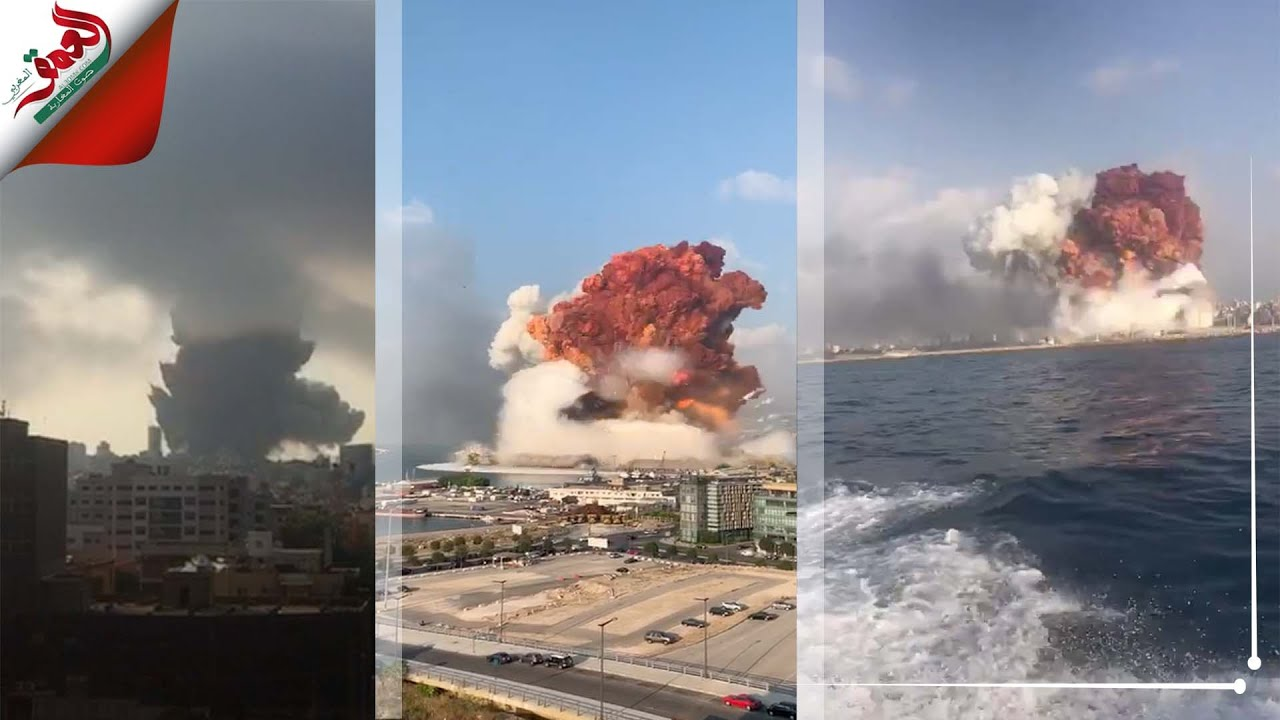 بأكثر من زاوية .. شاهد لحظة الانفجار الضخم الذي هز العاصمة بيروت