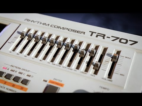 The Roland TR707 Drum Machine