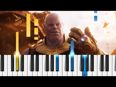 The Avengers - Main Theme - EASY Piano Tutorial