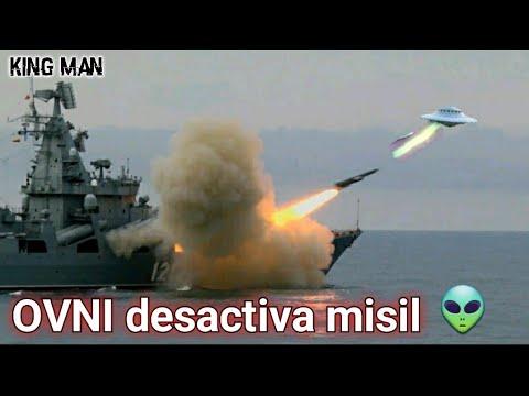 OVNI dispara rayo de luz a misil nuclear y desactiva su cabeza explosiva ??