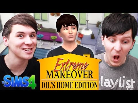 EXTREME MAKEOVER DIL'S HOME EDITION - Dan and Phil Play: Sims 4 #13