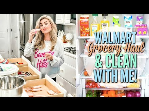 CLEAN WITH ME AND WALMART GROCERY HAUL | CLEANING MOTIVATION with CLEANING MUSIC | Love Meg