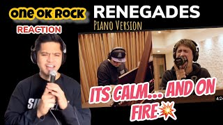 ONE OK ROCK - Renegades Piano Japanese Version - OFFICIAL VIDEO   REACTION