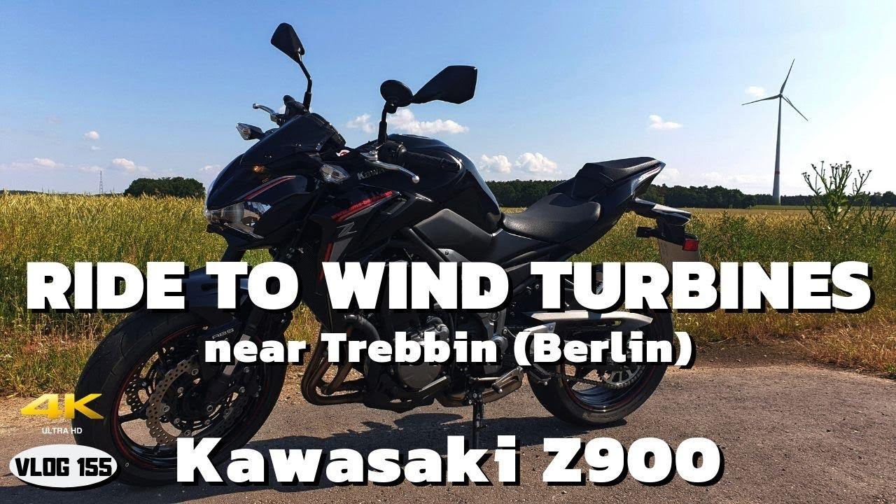 Day 2 in Berlin - Ride to Wind Turbines on Kawasaki Z900 - VLOG155 [4K]