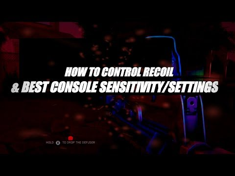 Best Console SENSITIVITY+SETTINGS & Tips On How To Control Recoil!  *MY OPINION* - Rainbow Six Siege