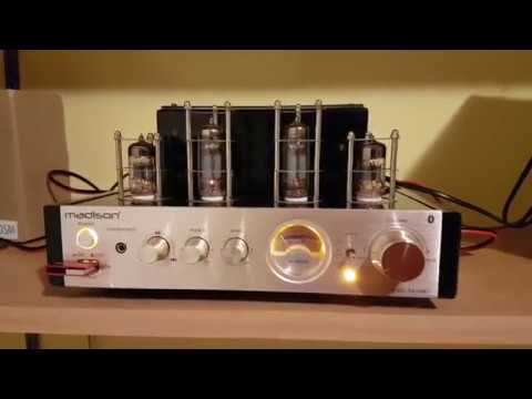 Madison MAD-TA10BT STEREO hybrid tube amplifier unboxing ...