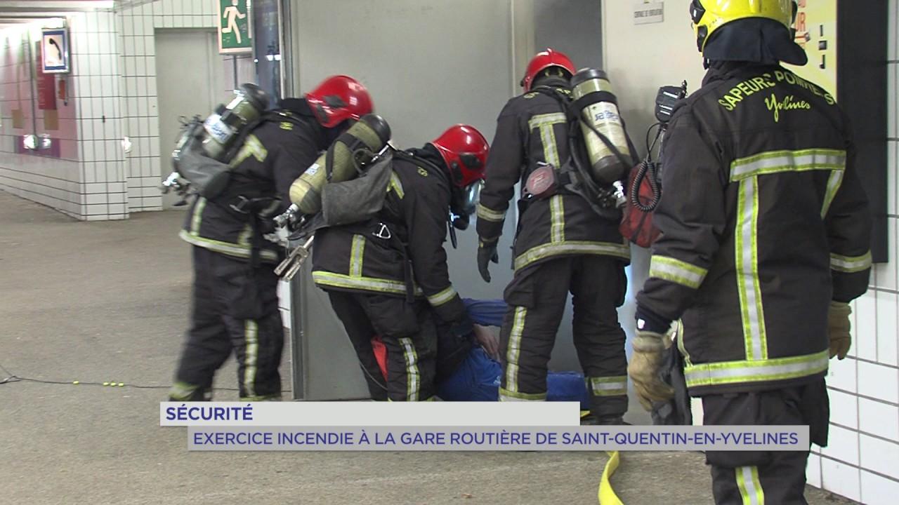 Sécurité : exercice incendie à la gare routière de Saint-Quentin-en-Yvelines