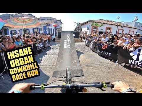 INSANE URBAN MTB DOWNHILL IN MEXICO - FULL RACE RUN להורדה