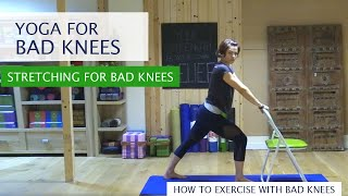 Yoga for bad knees| Chair Yoga with Alicia