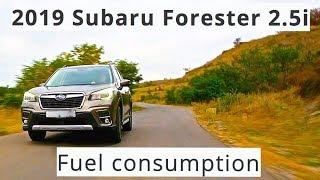 2019 Subaru Forester 2.5i, fuel consumption