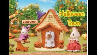 Halloween Town Playset with Calico Critters!