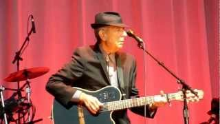 Leonard Cohen - Who By Fire - Helsinki, Finland - 02092012