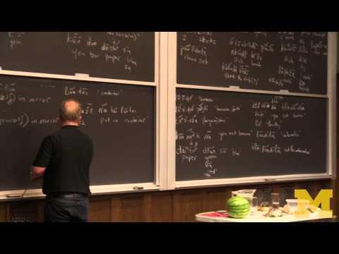 """""""Monolingual Fieldwork"""" Demonstration - Daniel Everett"""