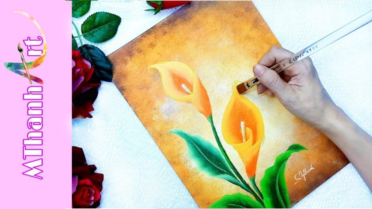 Cách Vẽ Hoa Kèn Siêu Đơn Giản   Hoa Rum Đẹp   MThanh Art