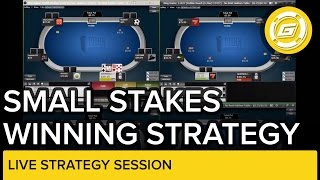 Small Stakes Winning Strategy Session | NLH