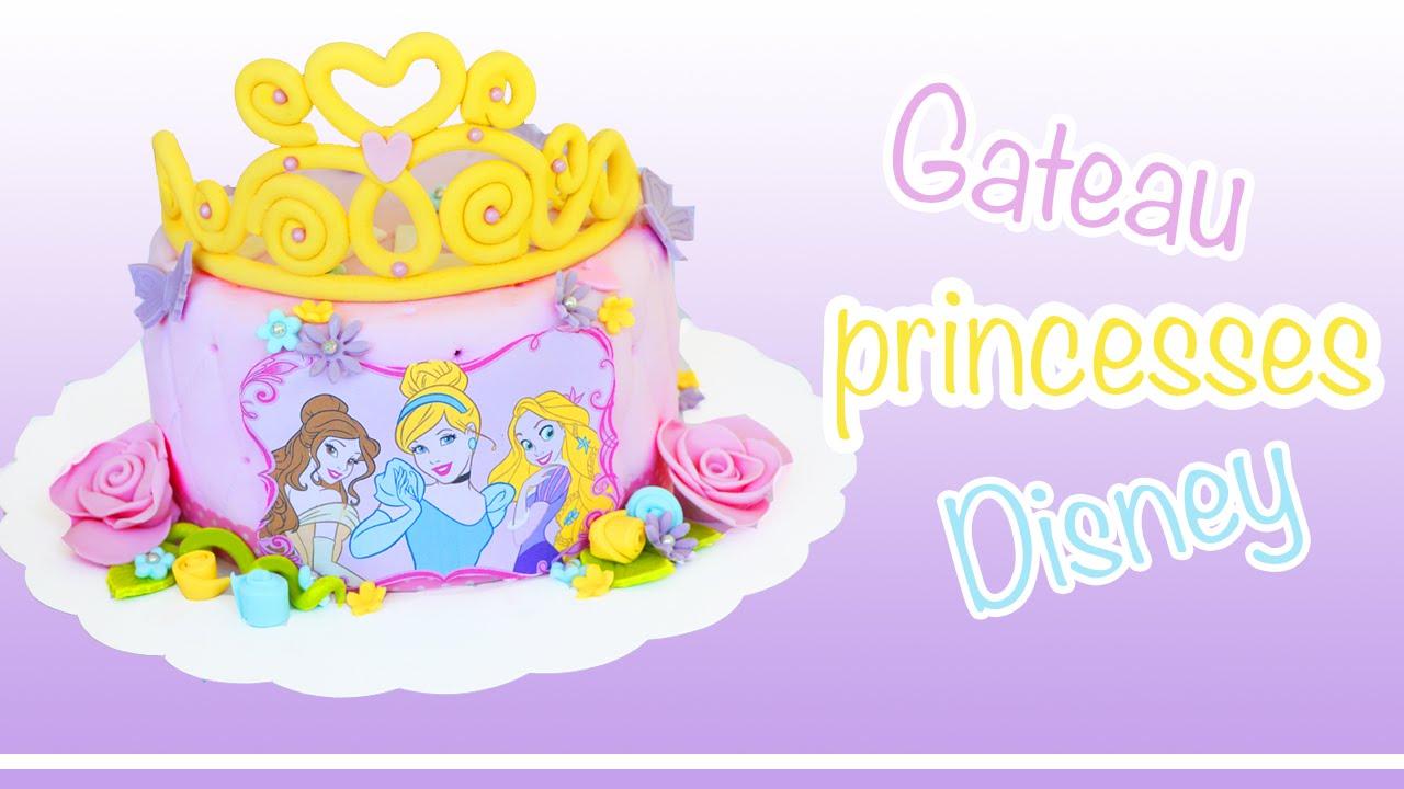 G teau princesses disney cake design youtube - Gateau anniversaire disney ...