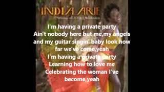 Private party (lyrics)-India.Arie