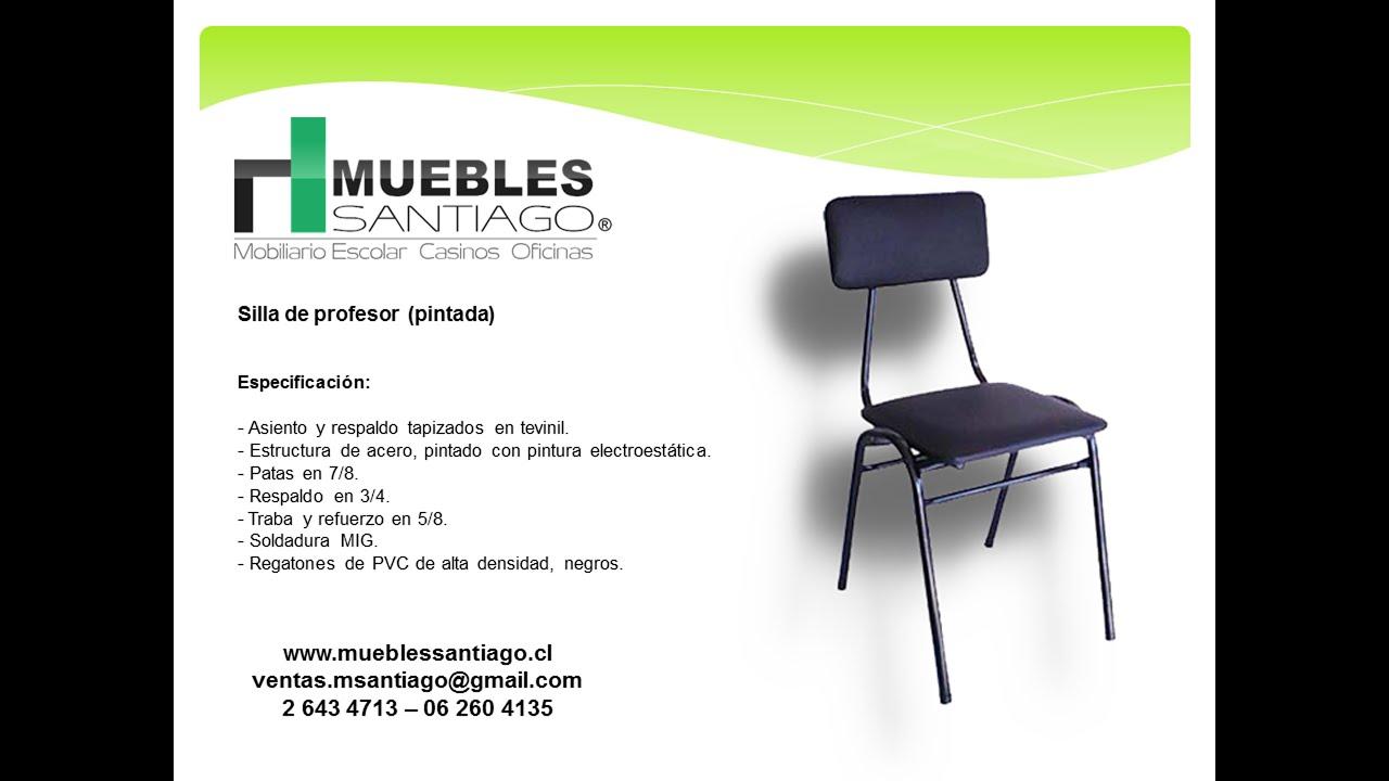 Silla de profesor pintada sillas de colegio muebles for Muebles santiago