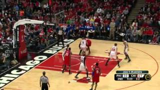 NBA Playoffs 2012: Philadelphia Sixers Vs Chicago Bulls Game 1 Highlights (0-1)