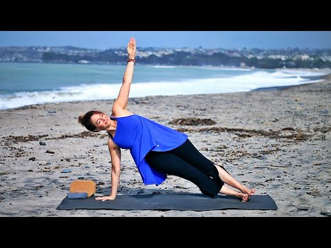 30 Minute Total Body Beach Yoga for Strength With Fightmaster Yoga