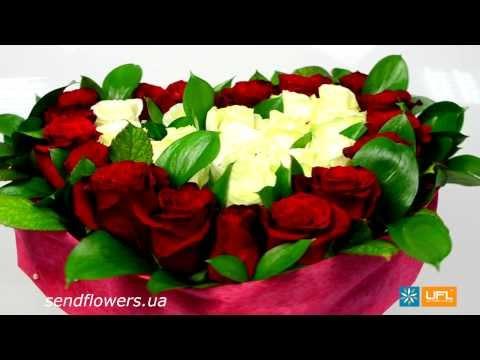 Букет Сердце с розами. Заказать романтический букет - SendFowers.ua
