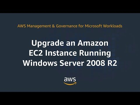 Upgrade An Amazon EC2 Instance Running Windows Server 2008 R2
