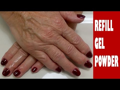 Gel Nails Refill / Infill tutorial ♥ Gel Nails ♥ Regal Nails Salon