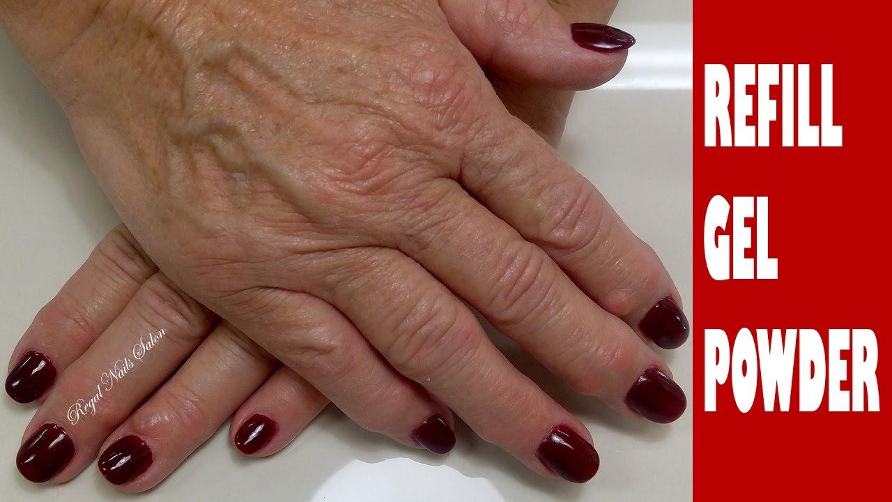 Gel Nails Refill Infill Tutorial Regal Salon