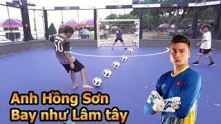 Thử Thách Bóng Đá huyền thoại Hồng Sơn ĐT Việt Nam trổ tài bắt Penalty đỉnh như thủ môn Đặng Văn Lâm